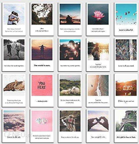 Amazon Zestaw Kartek Pocztowych Love 20 Powiedzenia I Cytaty Z Obrazami I Motywami Dowiedz Się Więcej O Miłości W Polaroid Wzornictwo Firmy Individual