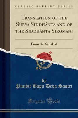 Surya Siddhanta Book