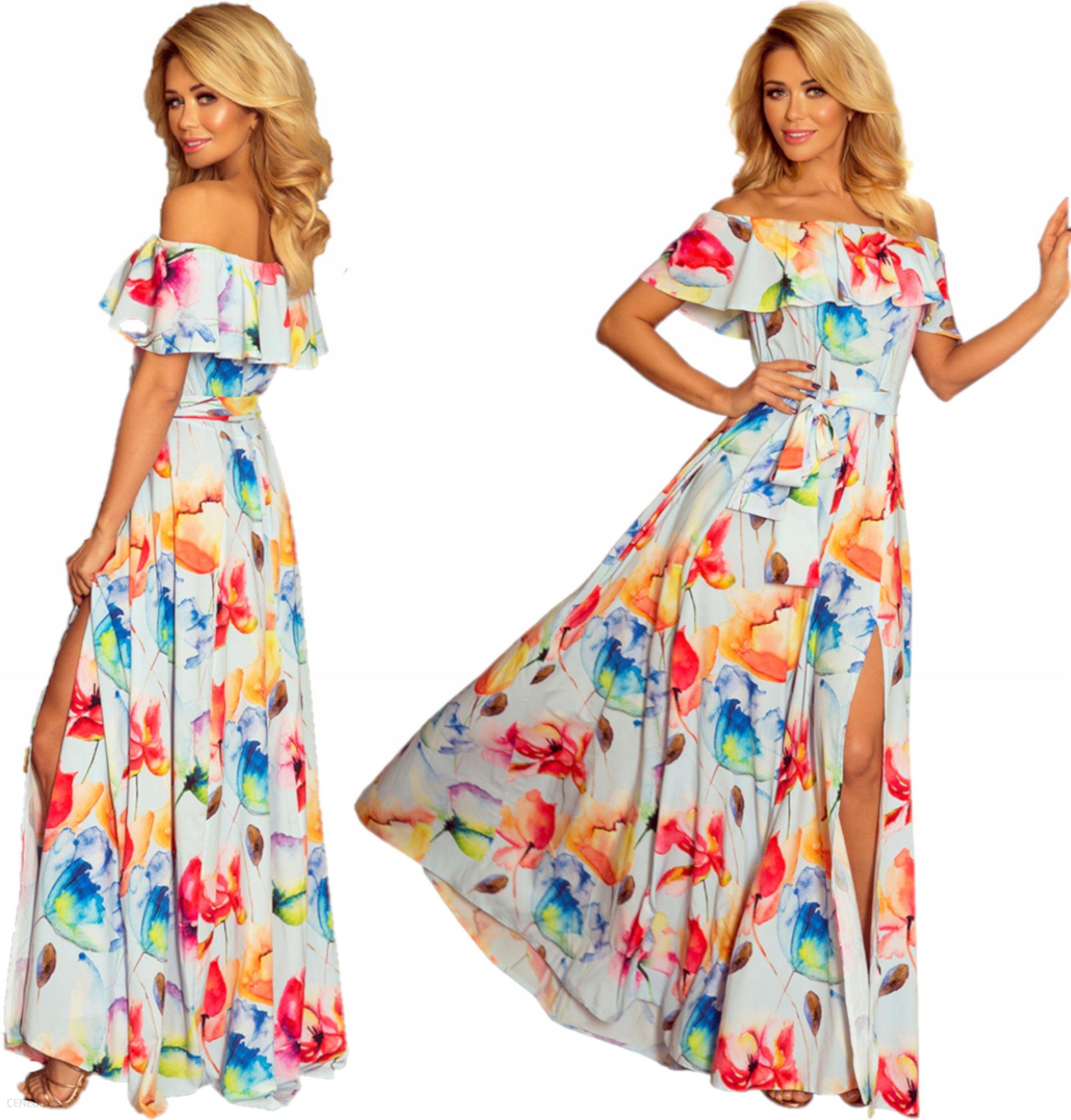 d1c4e32587 Suknia wieczorowa z hiszpańskim dekoltem 194-1 XL - Ceny i opinie ...