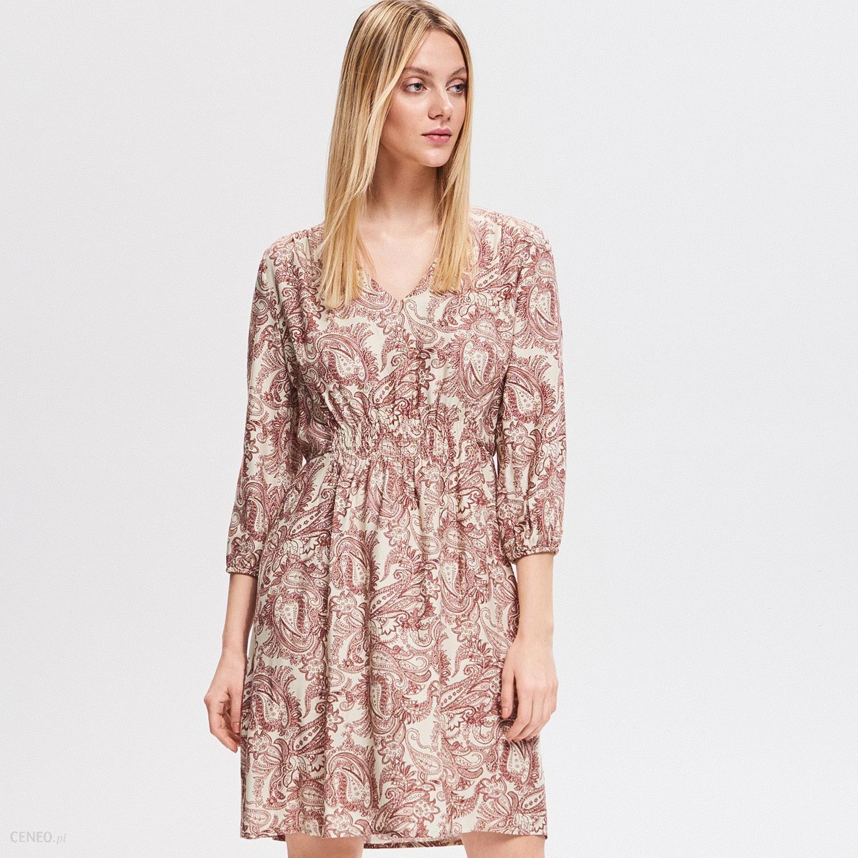 76b02b01cef6a3 Reserved - Sukienka z wiskozy - Wielobarwn - Ceny i opinie - Ceneo.pl