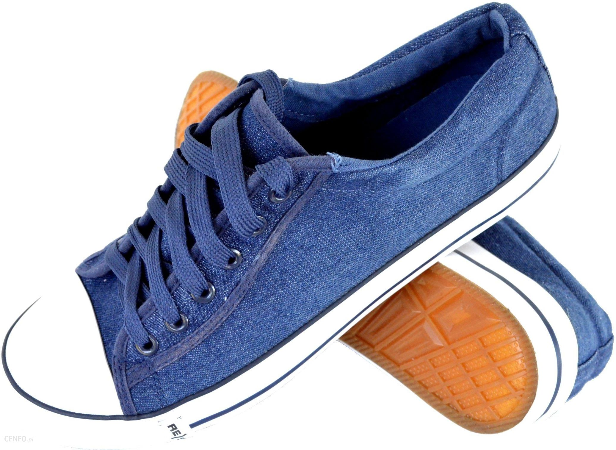 Trampki buty treningowe niebieski jeans r.36 Ceny i opinie Ceneo.pl