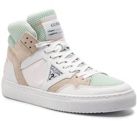 the latest 66b77 55861 Sneakersy GUESS - FM6BRU LEA12 WHITE eobuwie