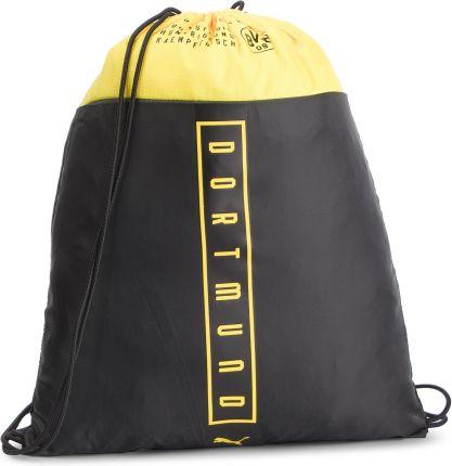 aa62c5768d10d Plecak PUMA - Bvb Fan Gym Sack 075977 01 Puma Black Cyber Yellow eobuwie