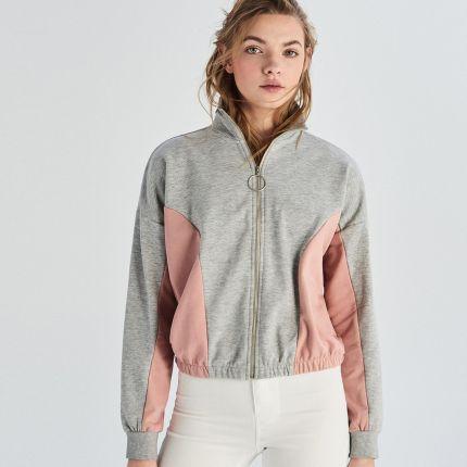 online retailer 26033 9fa78 Sinsay - Bluza rozpinana - Jasny szar ...