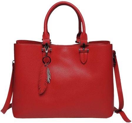 c53d20f947aac Podobne produkty do Czerwona torba na laptop ze skóry ekologicznej marki  Bellugio