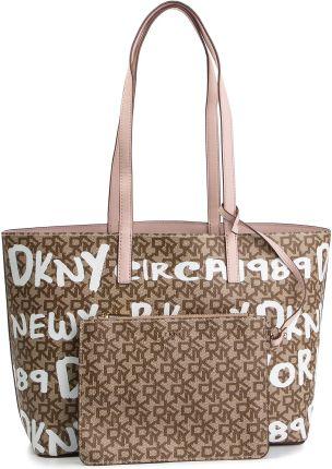 62889a4140d1a Torebka DKNY - Bifold Wallet R84A4757 Chino Logo-Iconic Blush JCL eobuwie