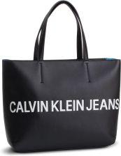 beff9ae75 Torebka CALVIN KLEIN JEANS - Sculpted Logo E/W Tote K60K605246 001 eobuwie