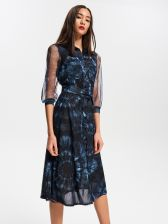 d3f93d65c9 Reserved - Sukienka z motywem tie-dye - Wielobarwn