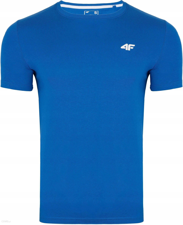 4F Koszulka Męska T shirt Bawełna Niebieska 3XL Ceny i opinie Ceneo.pl
