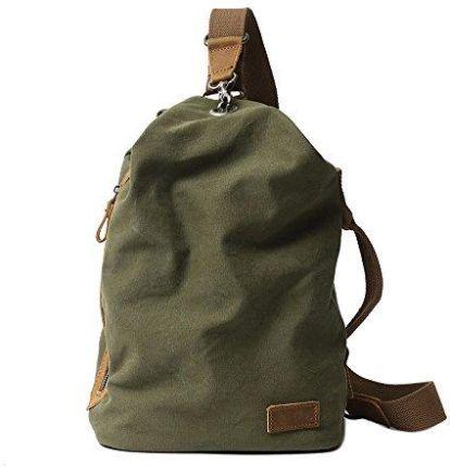 eaabe02f13082 Amazon neuleben Vintage Sling plecak torba na ramię plecak Canvas Daypack  klatki piersiowej retro torba na