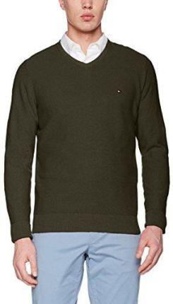 28be5112a1bc7 Amazon Tommy Hilfiger męski sweter Pre-Twisted Ricecorn Vneck - krój  regularny x-large