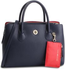 916146abf1530 Torebka TOMMY HILFIGER - Charming Tommy Med Work Bag AW0AW06487 413 eobuwie