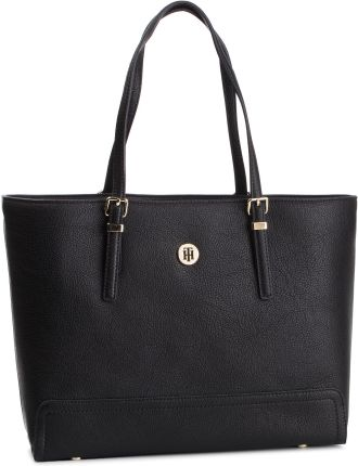 a573c65e1 Torebka TOMMY HILFIGER - Honey Finegrain Med Tote AW0AW06632 002 eobuwie
