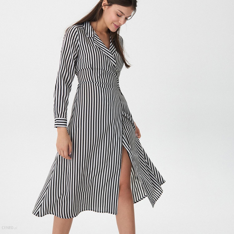 Mohito Sukienka midi w paski Wielobarwn Ceny i opinie Ceneo.pl