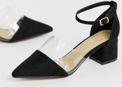90592ef6615e Truffle Collection transparent pointed heels - Black