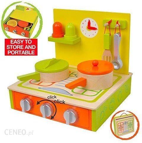 Amazon Kuchnia Do Gry Z Drewna Portable 11 Częściowy Zestaw Dla Dzieci Z Akcesoria