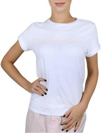 dc1e76ec22 Calvin Klein T-shirt damski S   S Crew Neck White w   logo nimf