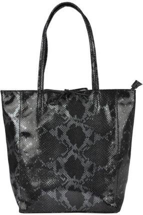 8681d8ae3f23a Elegancki Shopperbag Genuine Leather Lakierowana Skóra Ziemista ...