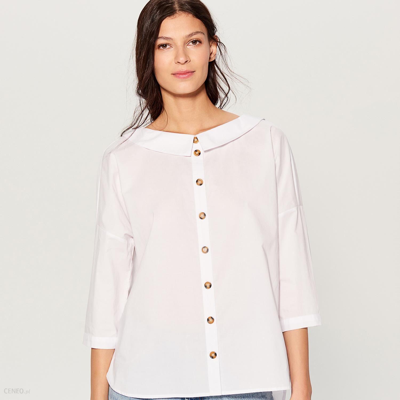 7babfbad4f7288 Mohito - Koszula oversize z szerokim kołnierzem - Biały - Ceny i ...