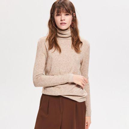 ab876c50a6 Beżowy sweter Swetry damskie - Ceneo.pl