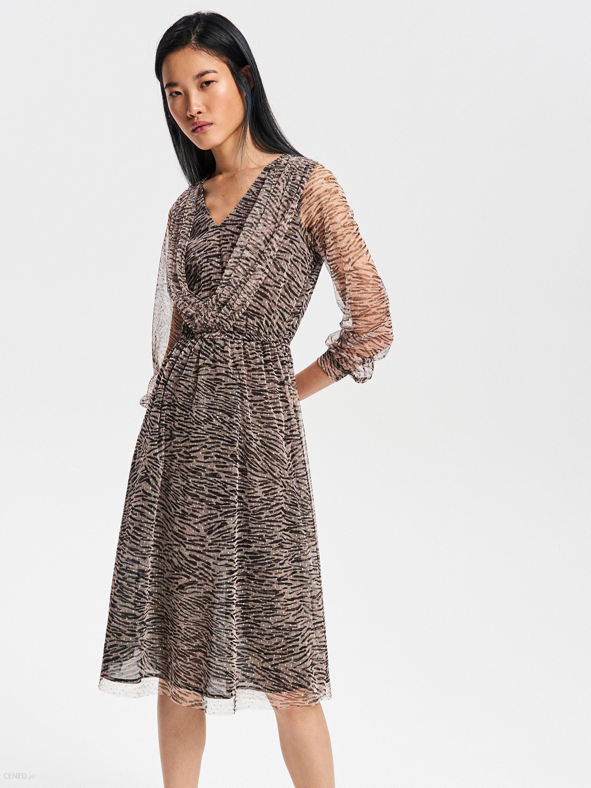 05d022e4ff Reserved - Wzorzysta sukienka - Wielobarwn - Ceny i opinie - Ceneo.pl