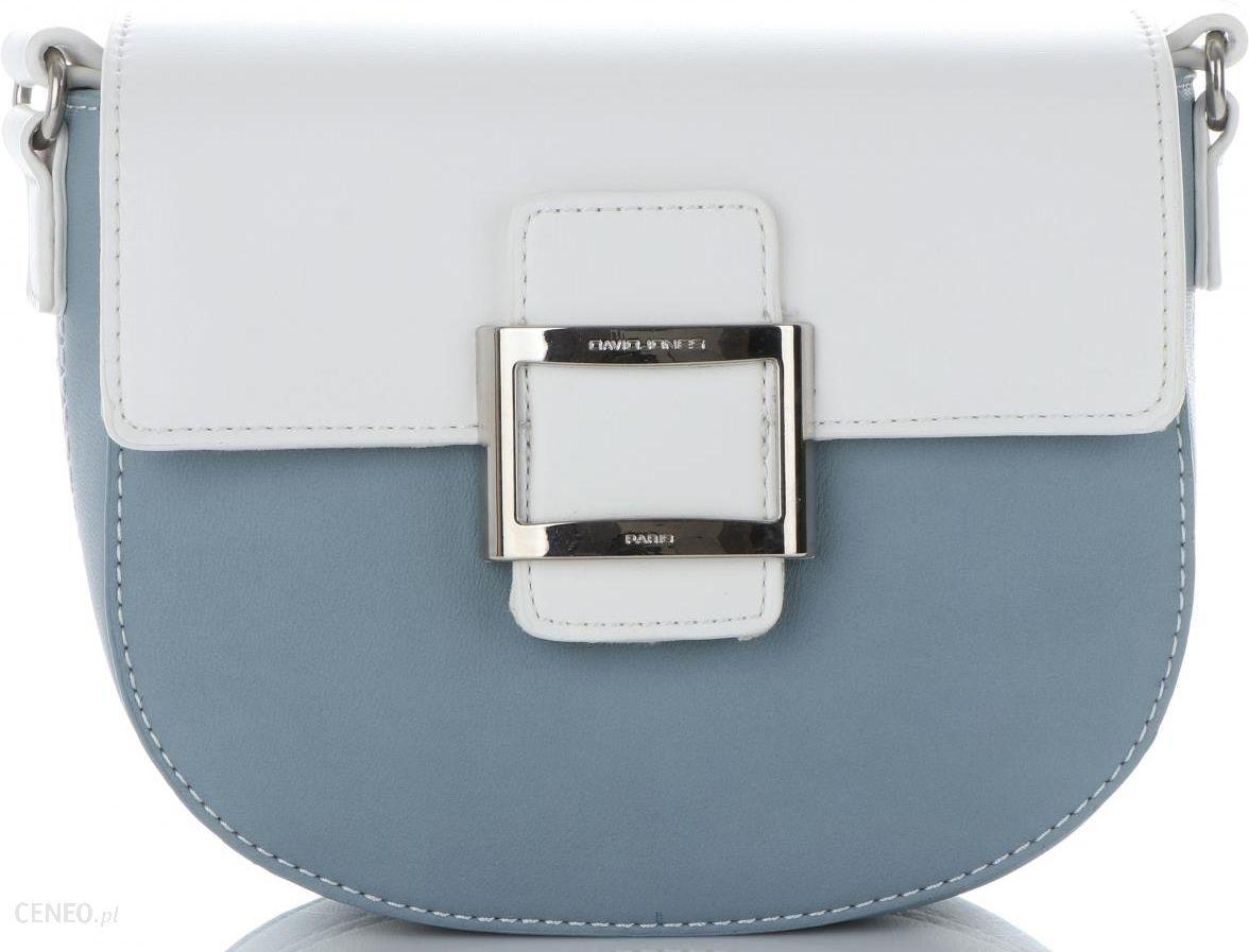 7243ec334d21c Firmowe Torebki Damskie Listonoszki na każdą okazję marki David Jones Biało  Niebieskie (kolory) -