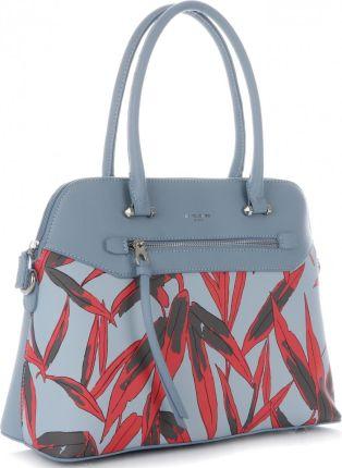 ccd0e4fc32f9c David Jones firmowe Torebki Damskie Kuferek z modnymi wzorami wykonany z wysokiej  jakości skóry ekologicznej Błękitny ...