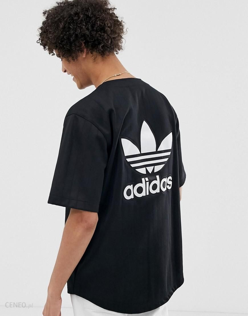 Adidas Originals Baseball Jersey With Back Embroidered Logo and Pin Stripes Black Ceneo.pl