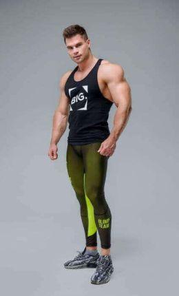 bde73b4fa6bac8 OLIMP MEN'S LEGGINGS - WORKOUT CLASSIC BLACK&NEON