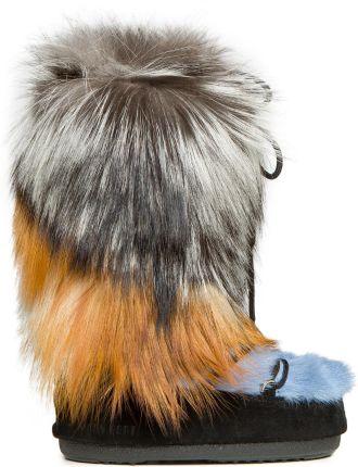 dfae836406f89 Podobne produkty do Vera Pelle Włoskie Skórzane Botki Damskie Śniegowce  Futro z Jenota Królika Czarne. Buty MOON BOOT x YVES SALOMON ...