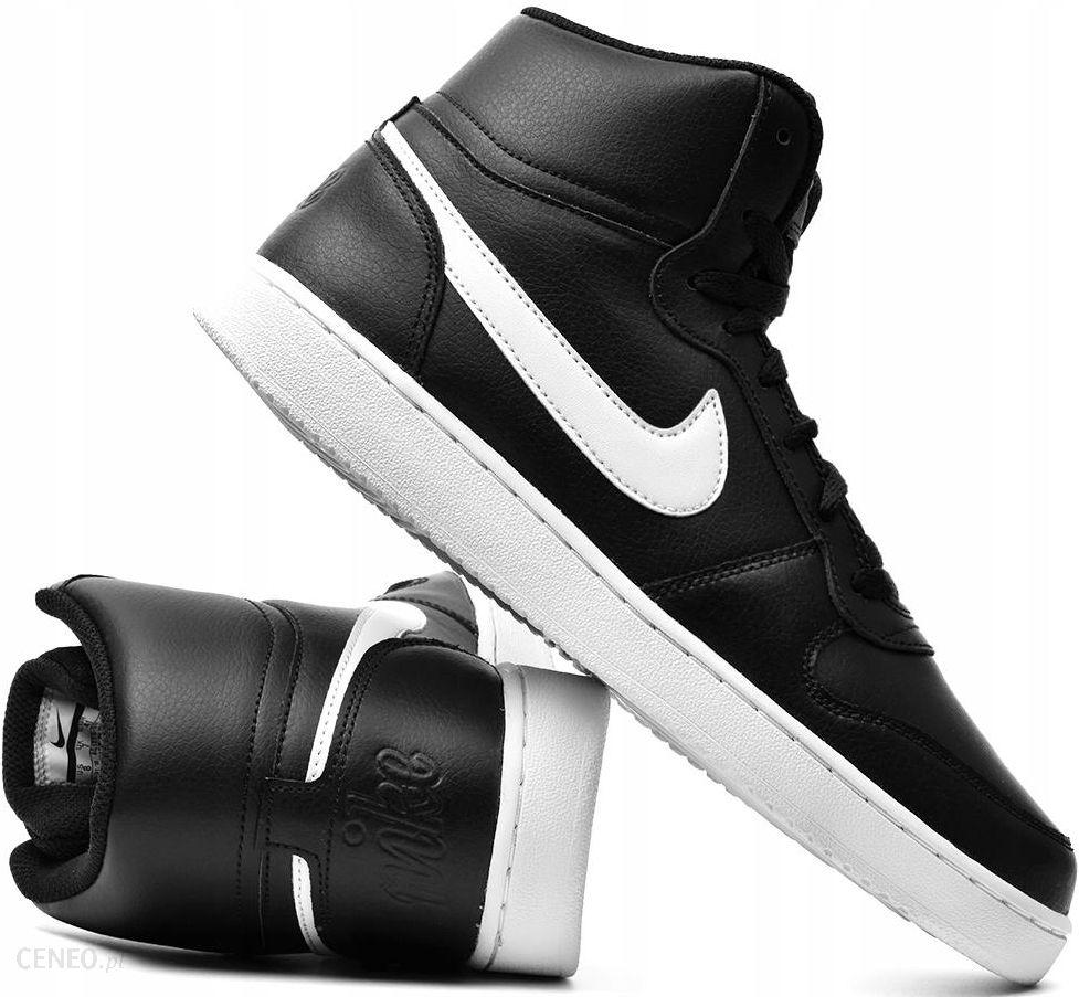 Buty męskie Nike Ebernon Mid czarno białe AQ1773 002 Cena
