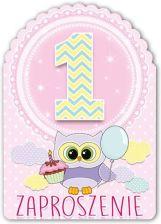 Zaproszenie Na 1 Urodziny Roczek Dla Dziewczynki 1szt Ceny I
