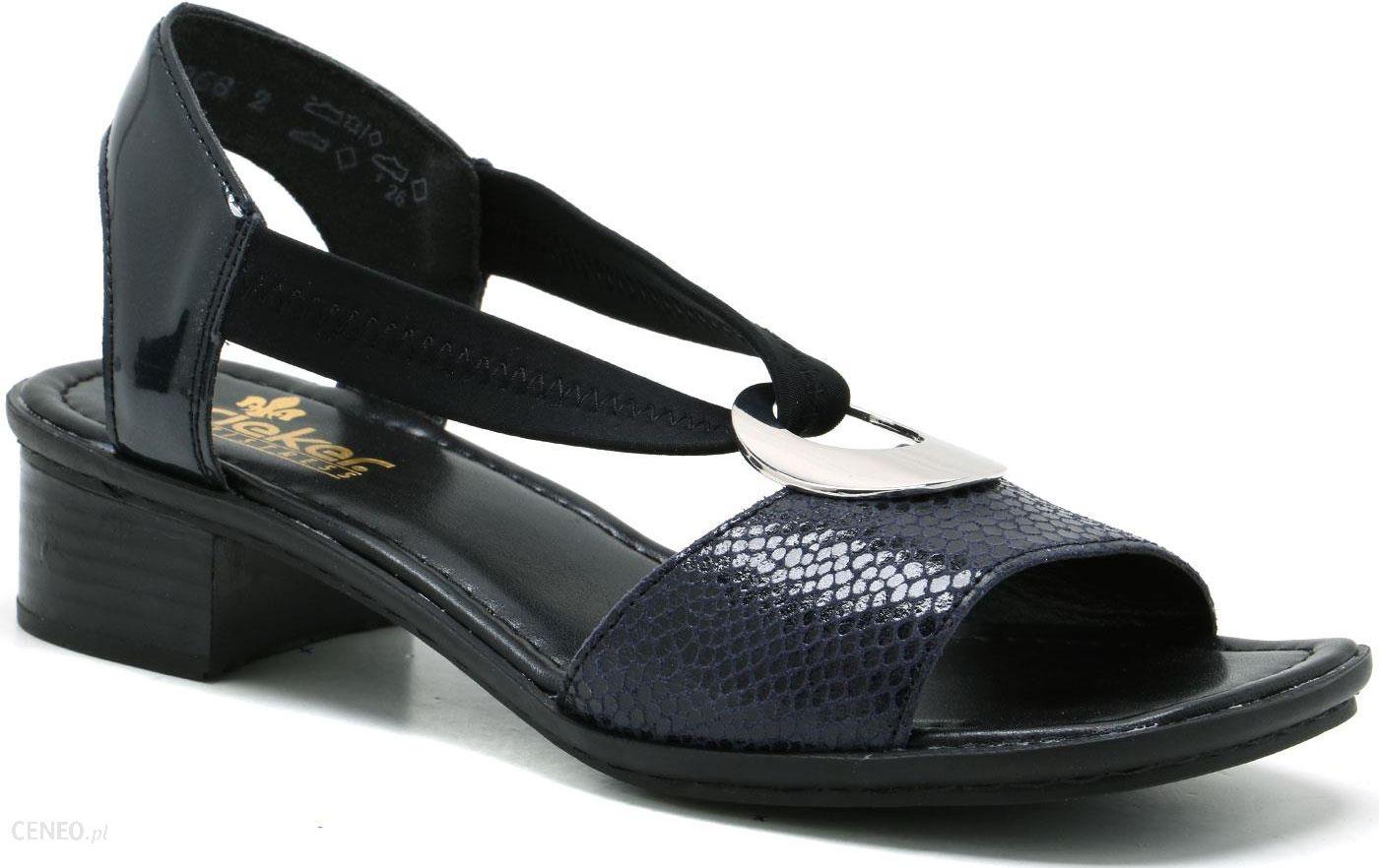 najtaniej rieker sandały rieker 62662-03 czarne