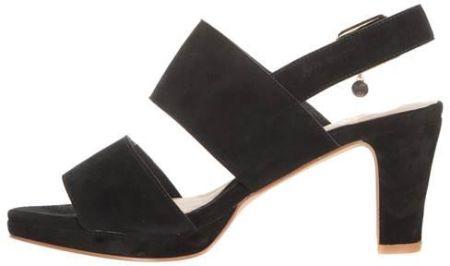 Czarne sandały damskie, szpilki SABATINA 115 Ceny i opinie Ceneo.pl