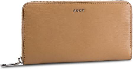 188a6c286d73f Duży Portfel Damski DKNY - Bryant-New Zip Around R8313658 Latte LAT eobuwie