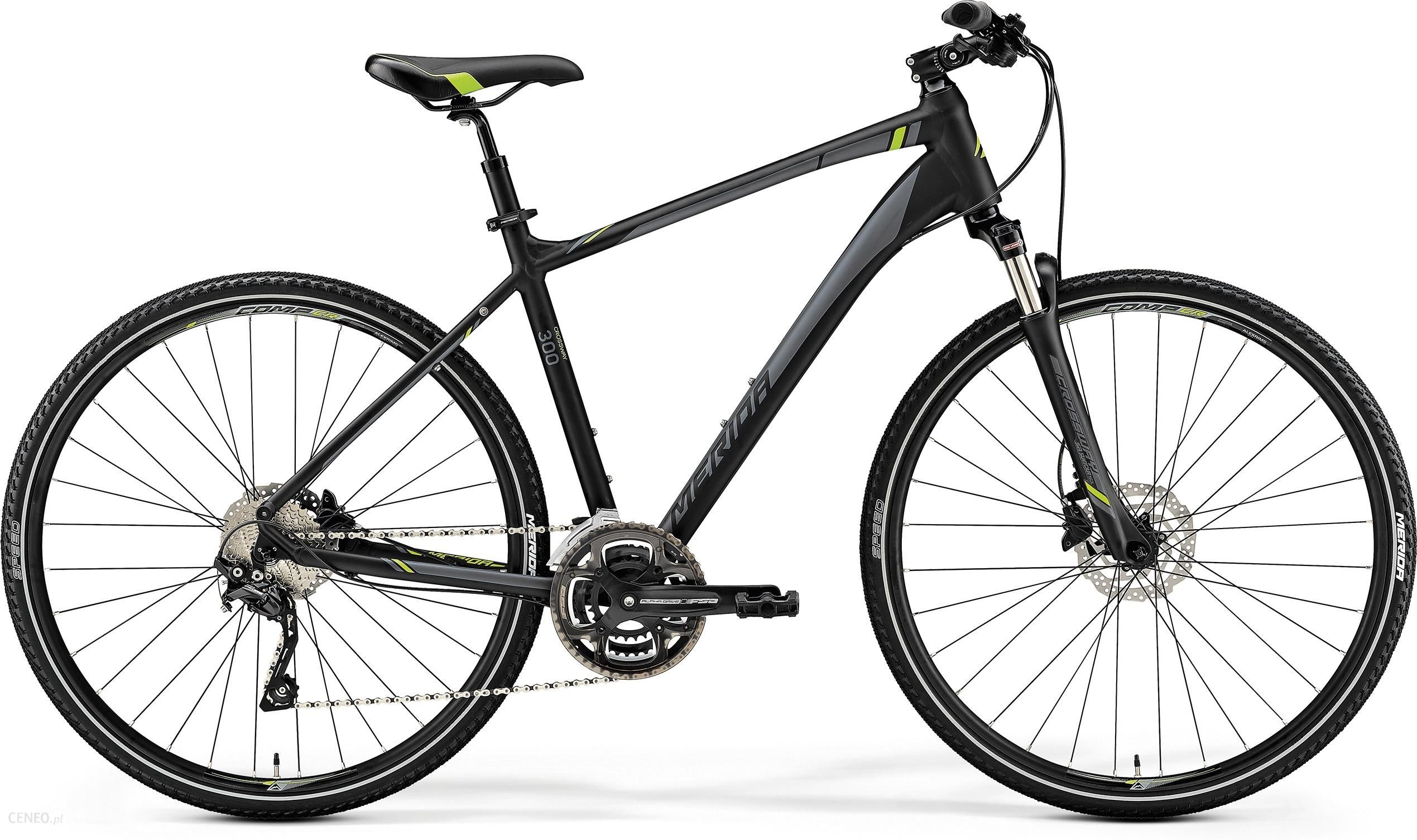 Merida Crossway 300 Matt Black Green 28 2019