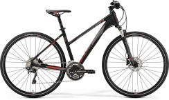 Merida Crossway 500 Lady Matt Black Red 2019