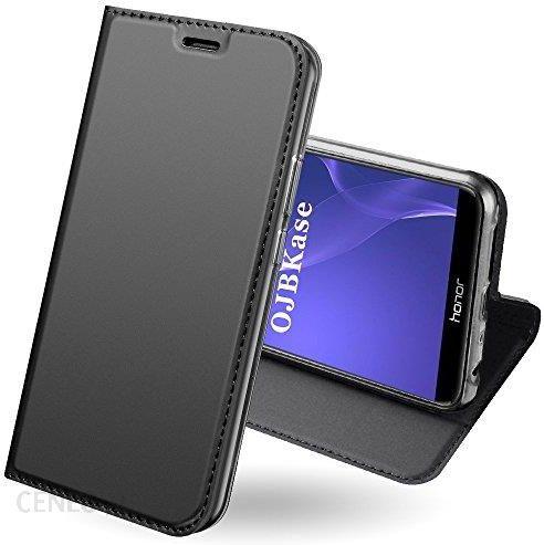 Amazon Huawei Honor 9 Lite etui, ojbkase® Premium Slim sztuczna skóra  telefon komórkowy ochrona etui funkcja [Stand gniazdo] [Flash]