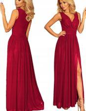 c422d76137f3 Sukienka długa suknia maxi z rozcięciem ŚLIWKA XL - Ceny i opinie ...