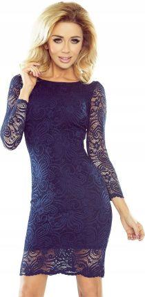 1b503e2687 Veske.pl 92-2 SIMPLE Sukienka z dekoltem i długim rękawem - CZARNA ...