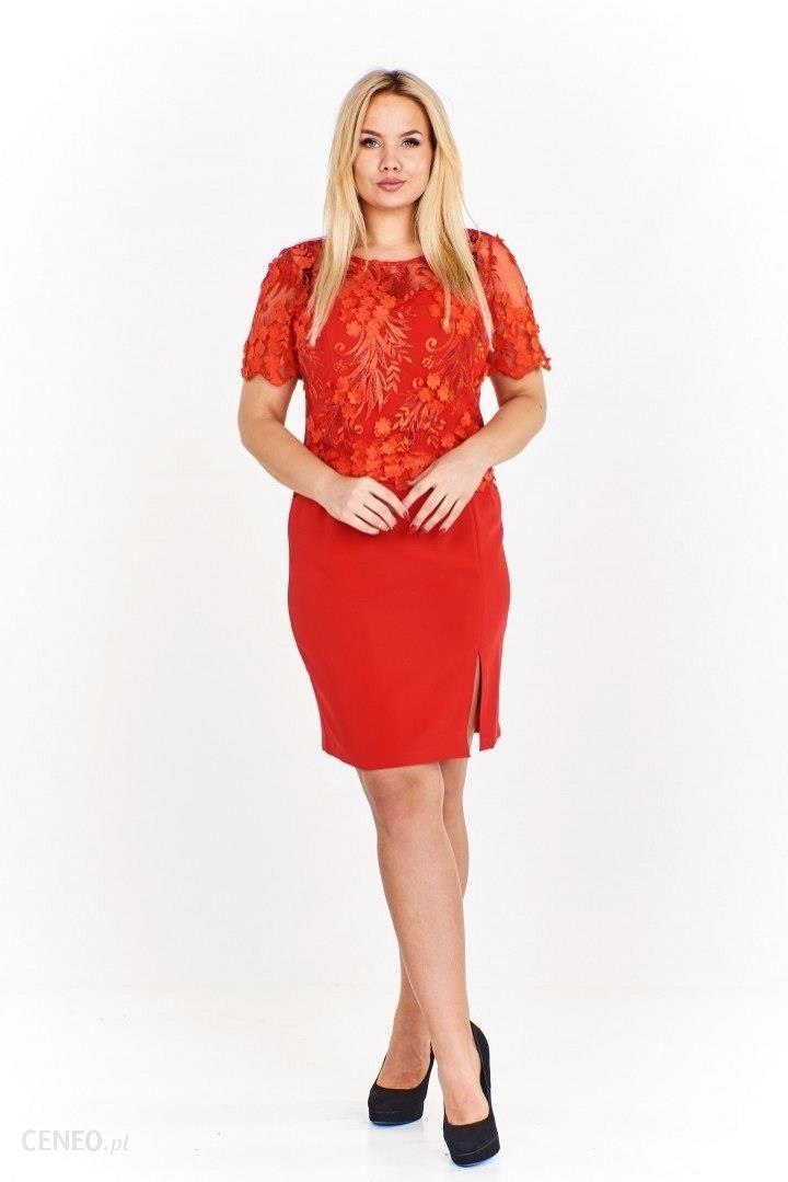 eba3eebf6b Elegancka sukienka z wyszywaną górą w kwiatowy wzór