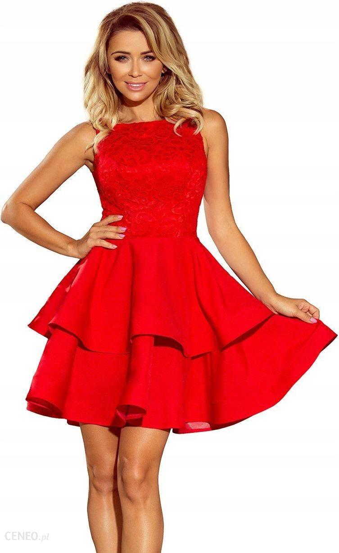 caa2220873ddc0 Modna sukienka góra koronka wesele CZERWONA M - Ceny i opinie - Ceneo.pl