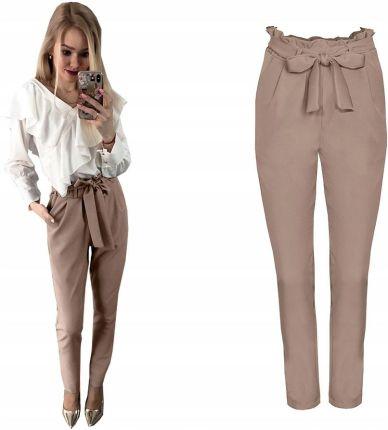 b7529fc6 Eleganckie spodnie w kant z wysokim stanem XXL Szary - Ceny i opinie ...