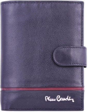 3ba7e9f5d6065 Portfel męski PIERRE CARDIN SAHARA TILAK 326A RFID czarny z czerwonym  paskiem