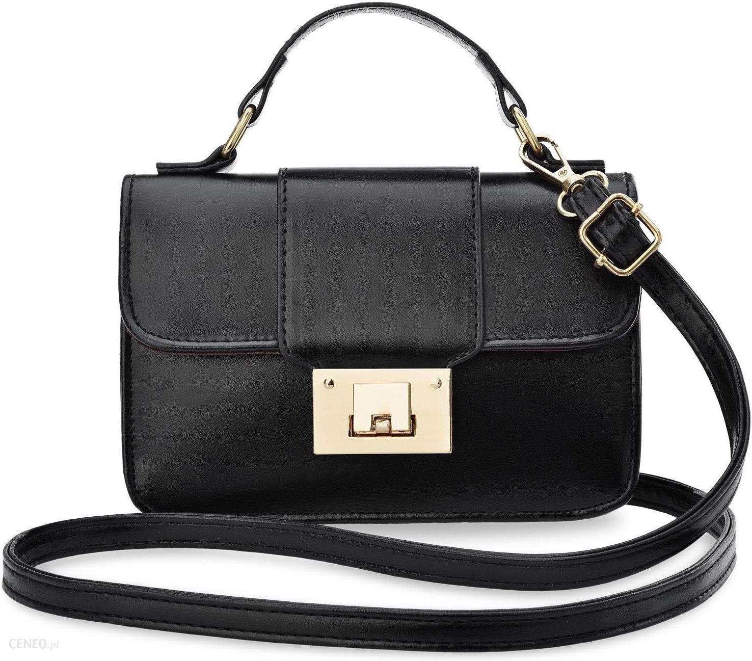 b59122888fc6a Elegancka klasyczna listonoszka zarka kuferek do ręki i na ramię torebka  damska z klapą i klamrą