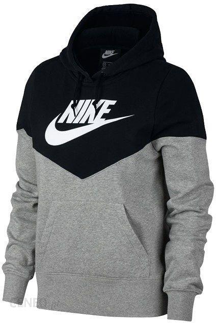 30077d5ad Bluza damska Sportswear Heritage Nike (czarno-szara) - Ceny i opinie ...