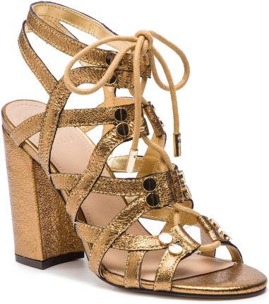 440e98b83c239 Jalli złoto-czarne skórzane sandały - Ceny i opinie - Ceneo.pl