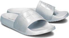 f4558e799412e Calvin Klein Jeans Christie Metallic - Klapki Damskie - RE9854 ICY BLUE