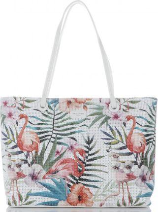 11f168526c03d Uniwersalne Torebki Damskie wykonane z wysokiej jakości skóry ekologicznej  w modne tropikalne wzory marki David Jones