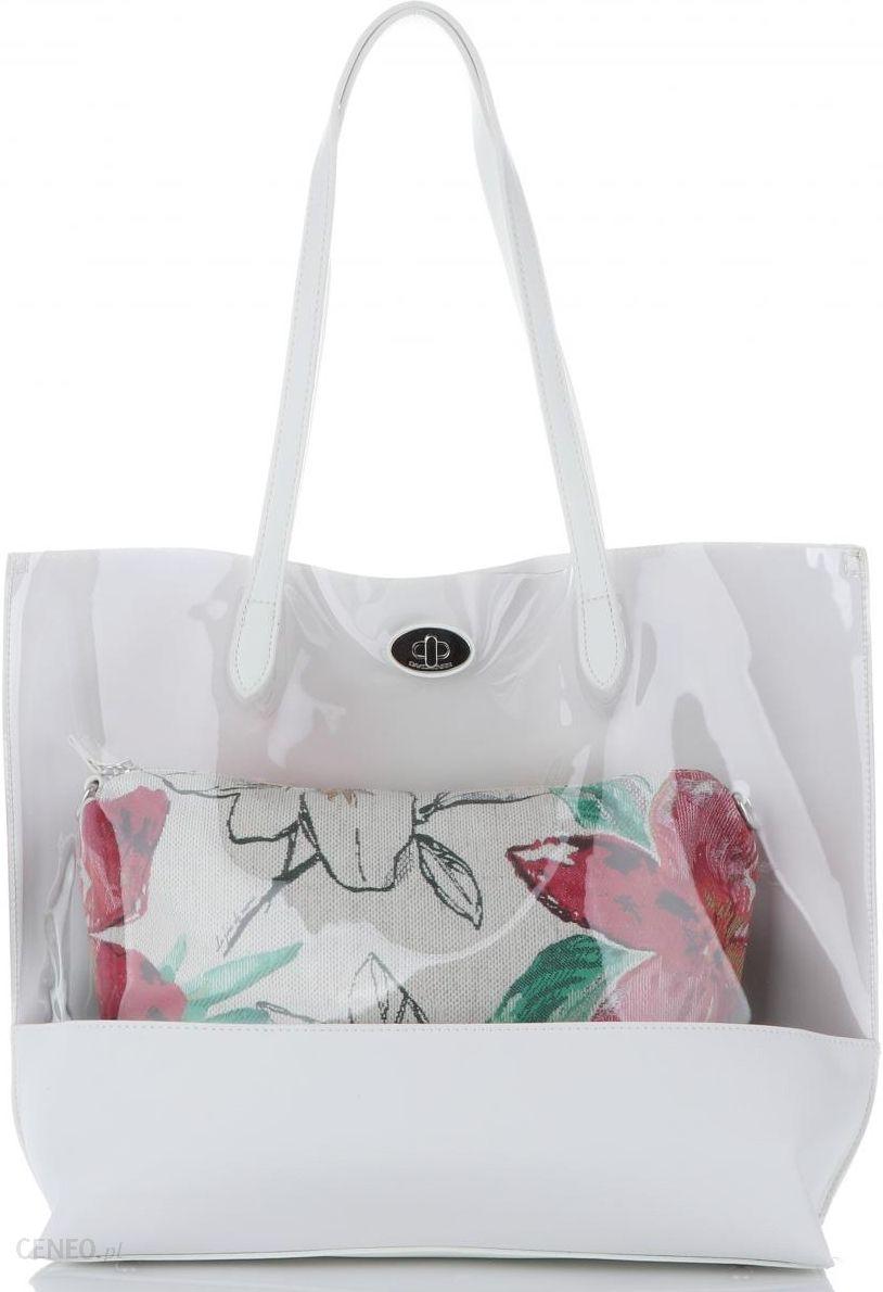 e705522d7a8fc Modne Transparentne Torebki Damskie z kosmetyczką marki David Jones  Multikolorowe Białe (kolory) - zdjęcie